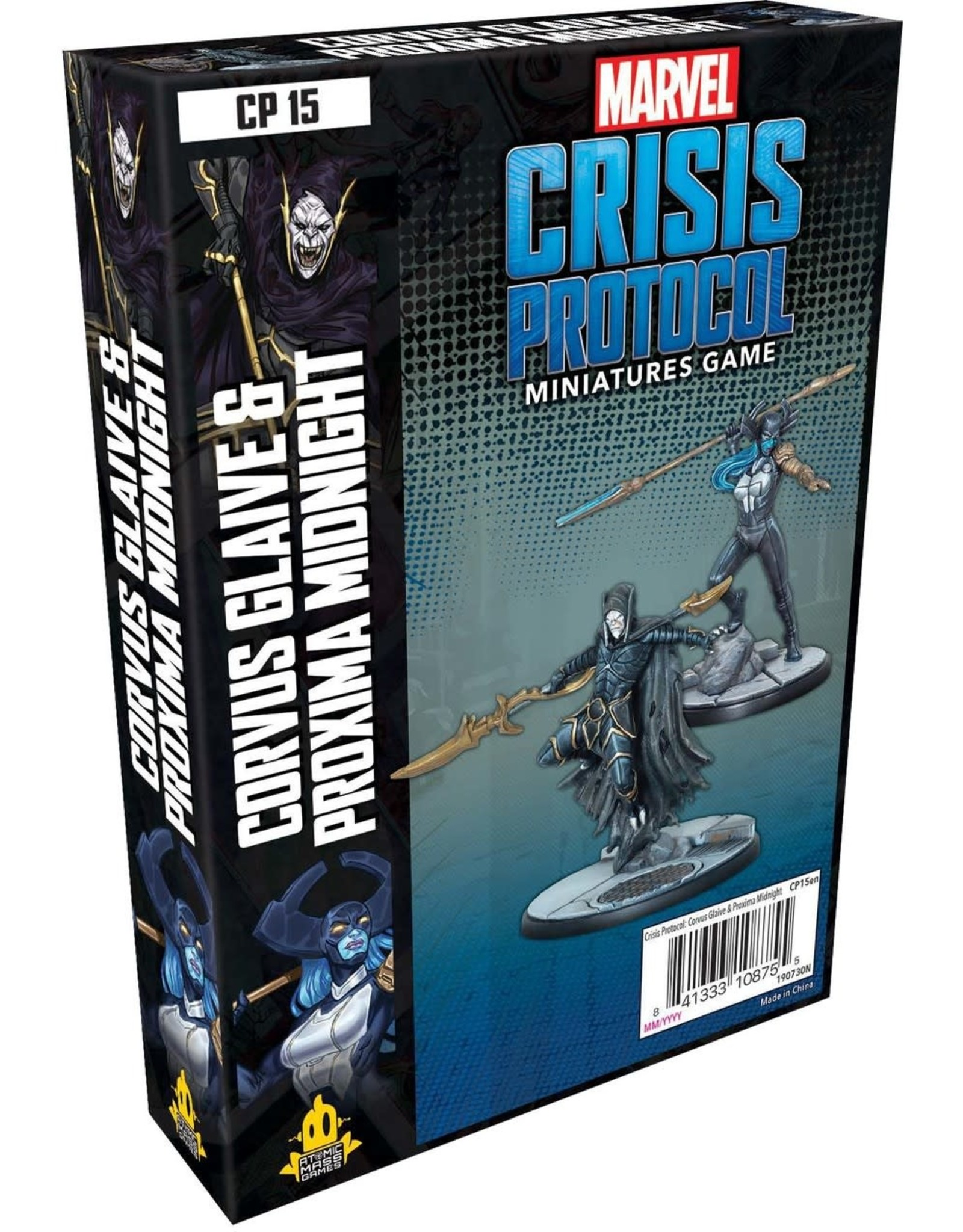 Asmodee Marvel Crisis Protocol - Corvus Glaive and Proxima Midnight Character Pack