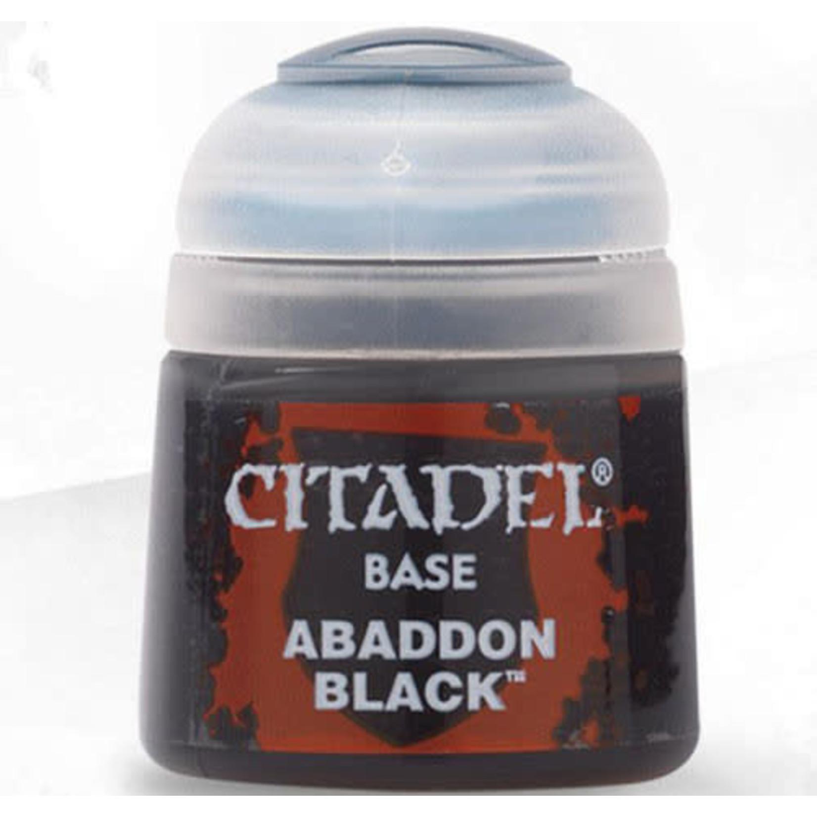 Games Workshop Citadel Paint: Abaddon Black 12ml