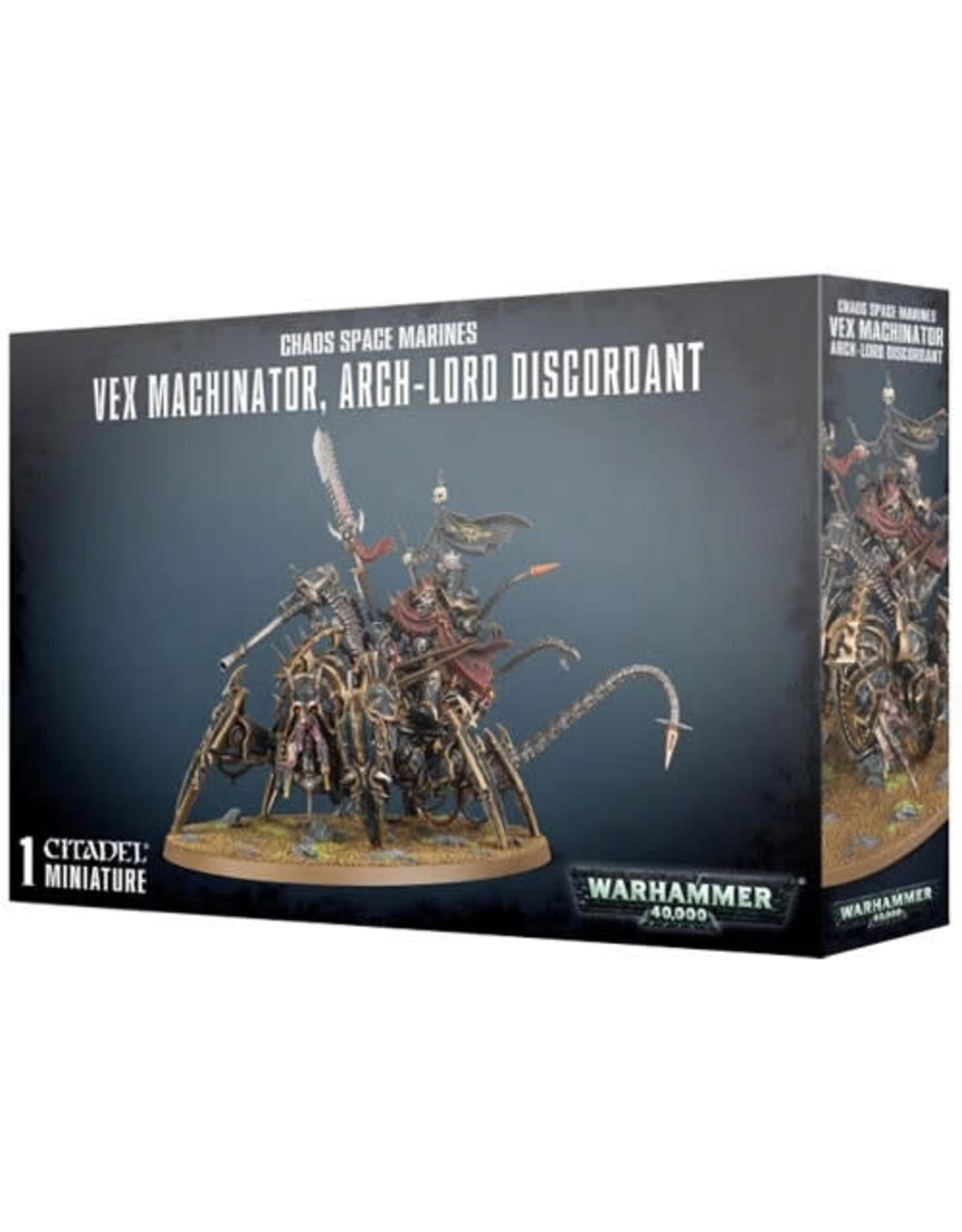 Games Workshop Chaos Space Marine Vex Machinator Arch Lord Discordant(40K)