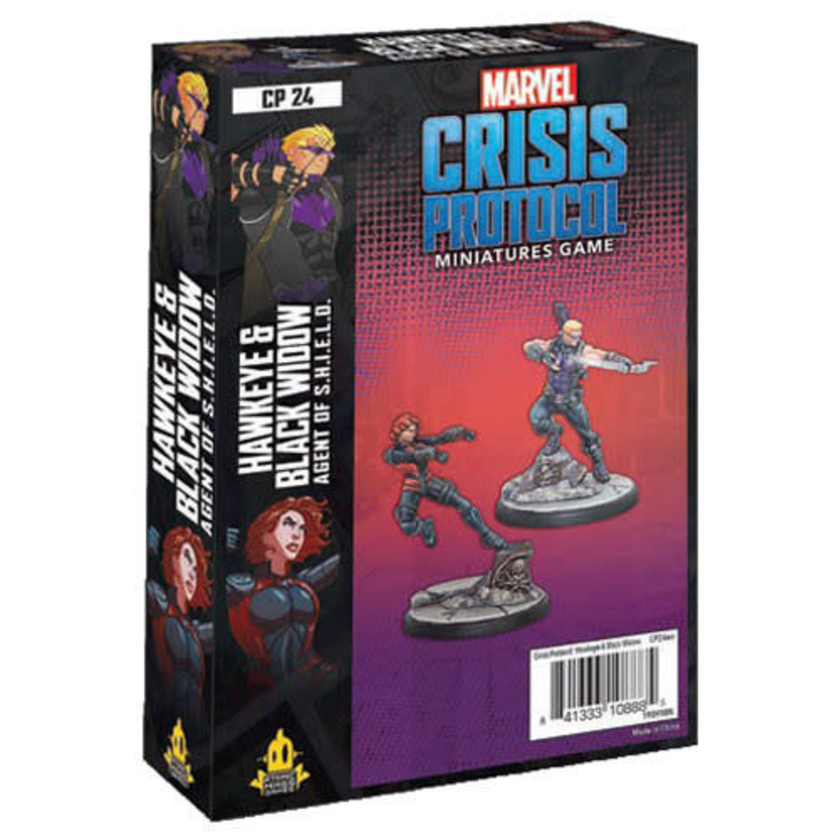 Asmodee Marvel Crisis Protocol - Hawkeye & Black Widow Agent of SHIELD Character Pack