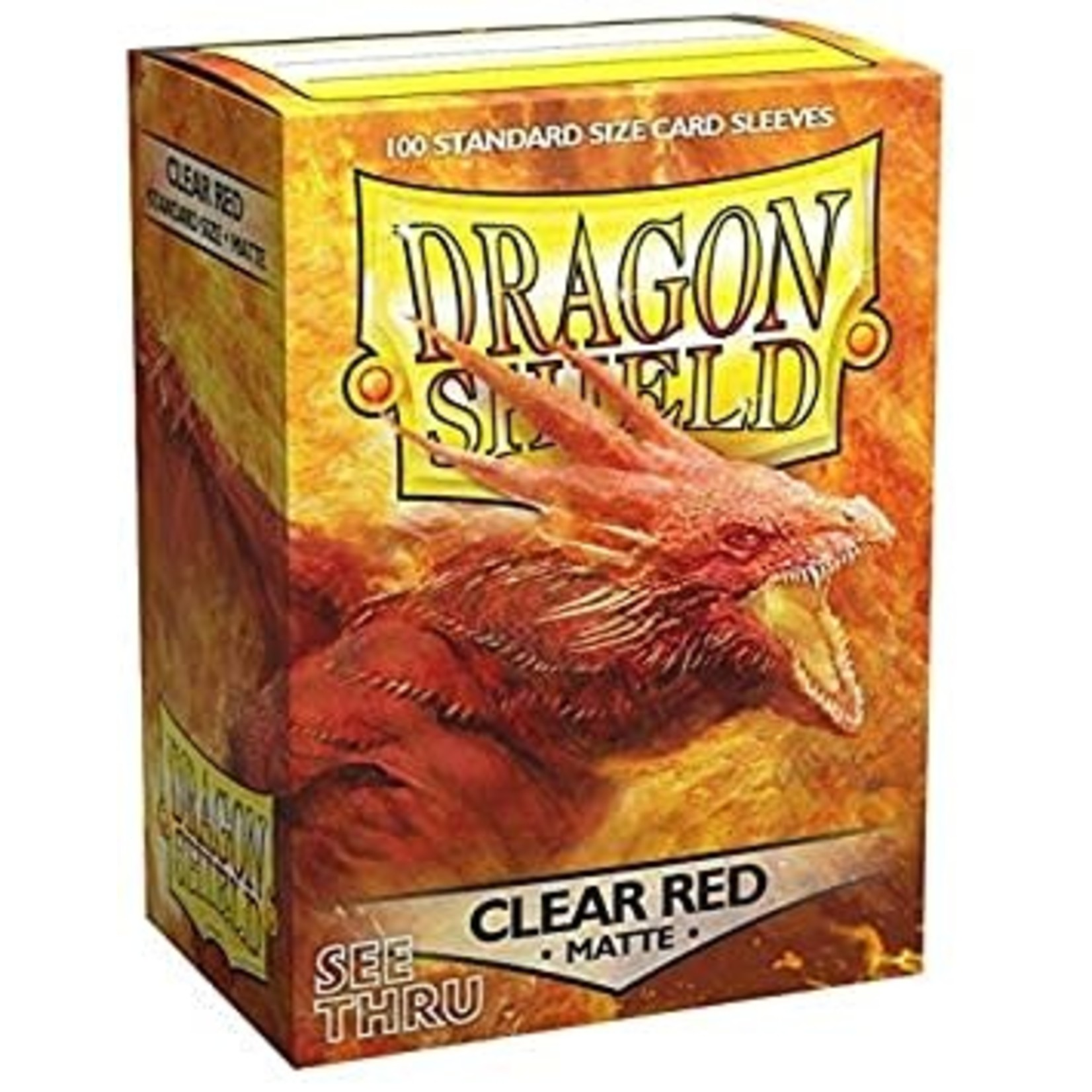 Dragon Shield Dragon Shield Matte Clear Red 100ct