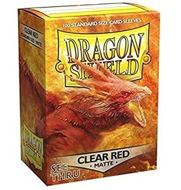 Dragon Shield Dragon Shield Matte Clear Red 100ct