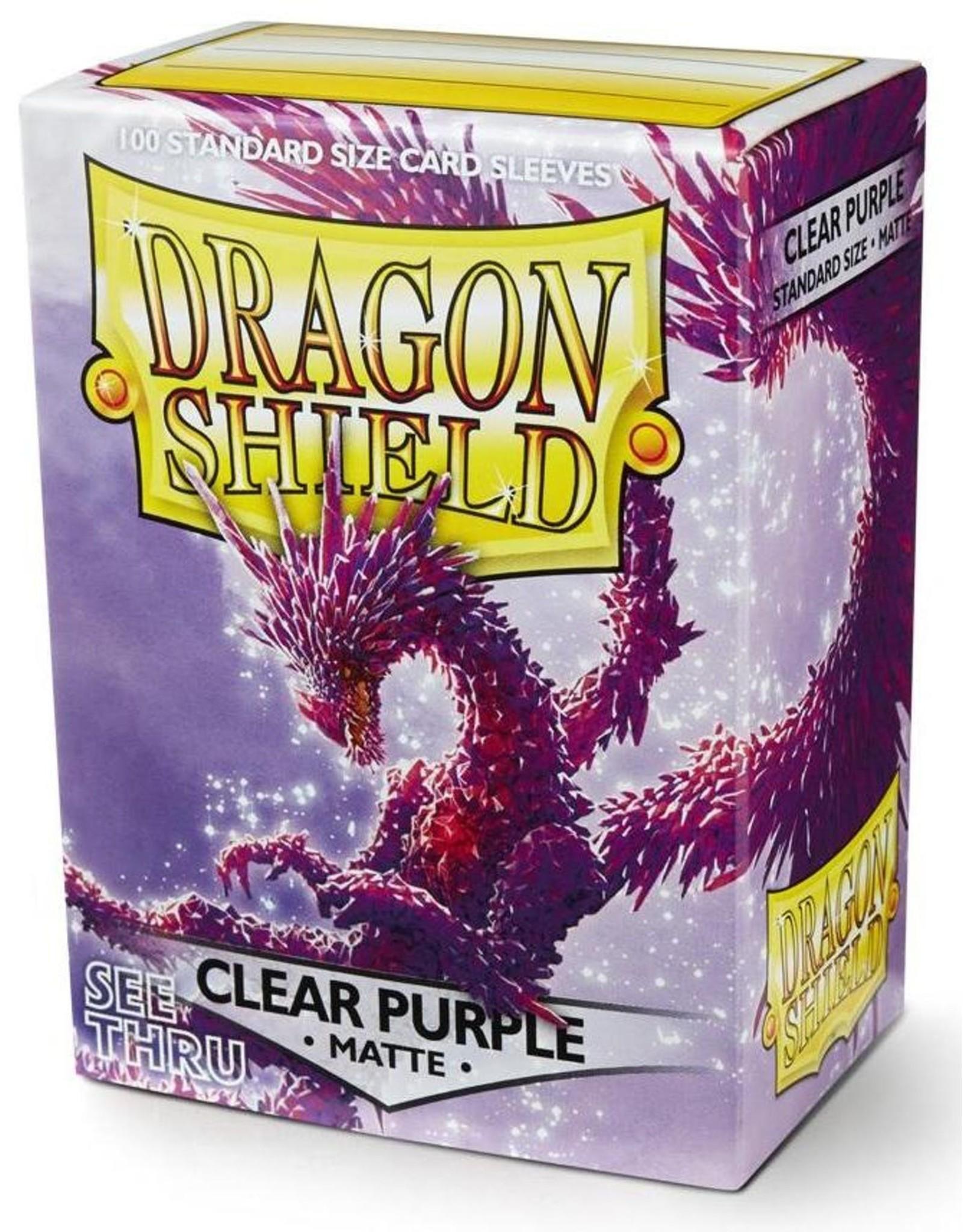 Dragon Shield Dragon Shield Matte Clear Purple 100ct