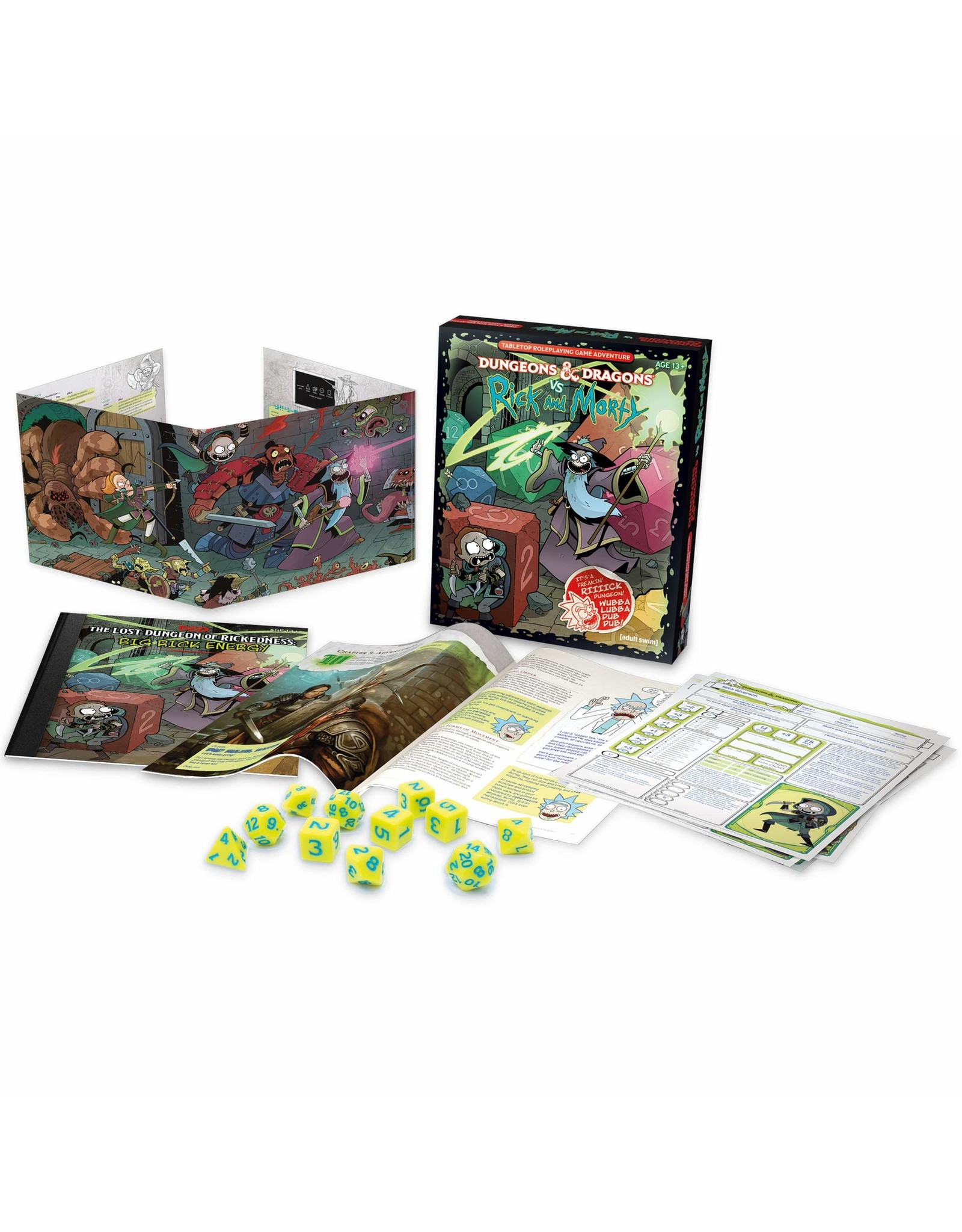Wizards of the Coast D&D 5e Dungeons and Dragons vs. Rick and Morty