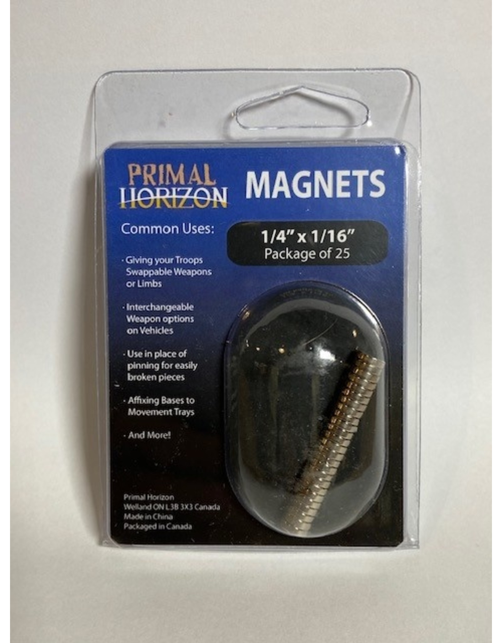 "Magnets 1/4"" x 1/16"" 25ct (PHZ)"