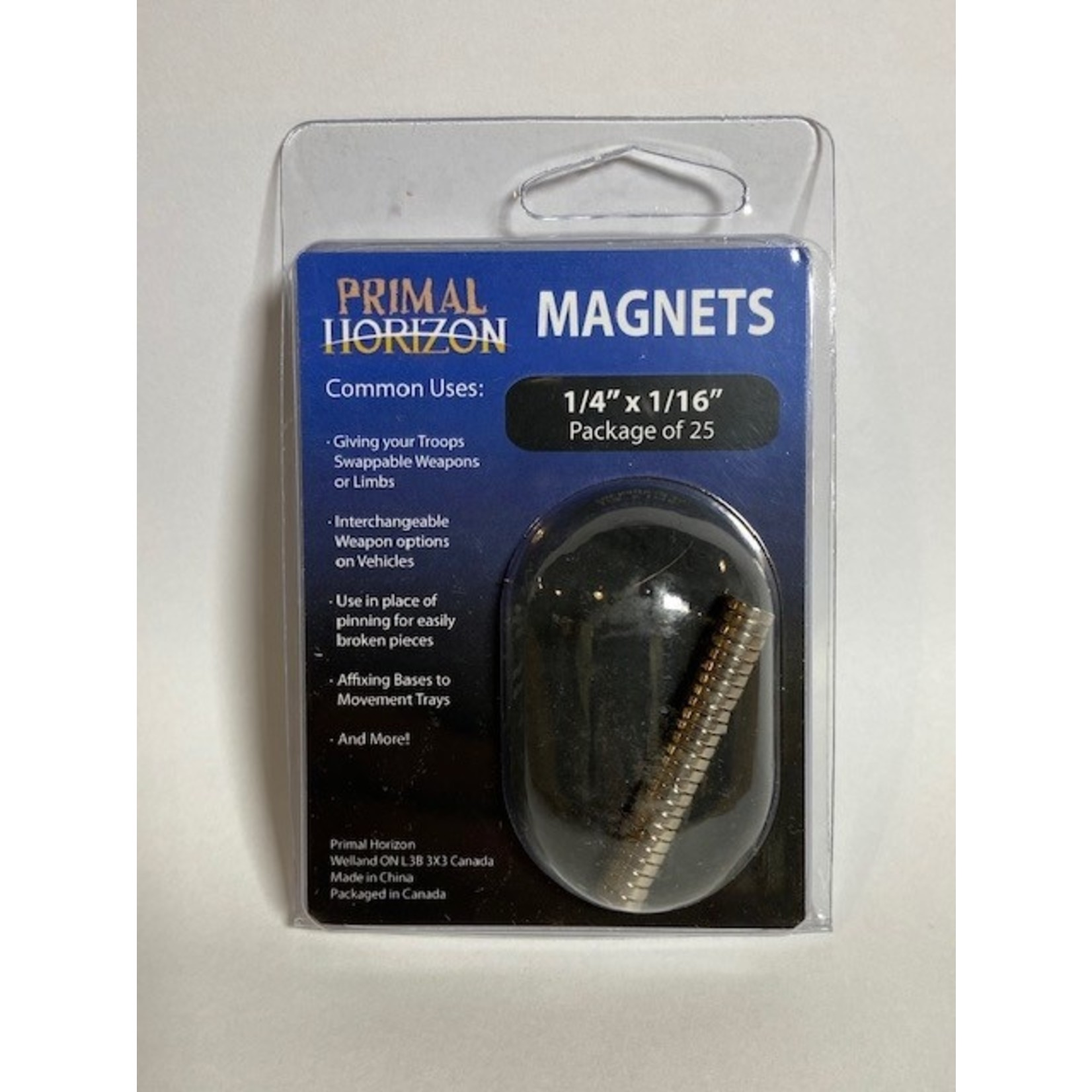 """Magnets 1/4"""" x 1/16"""" 25ct (PHZ)"""