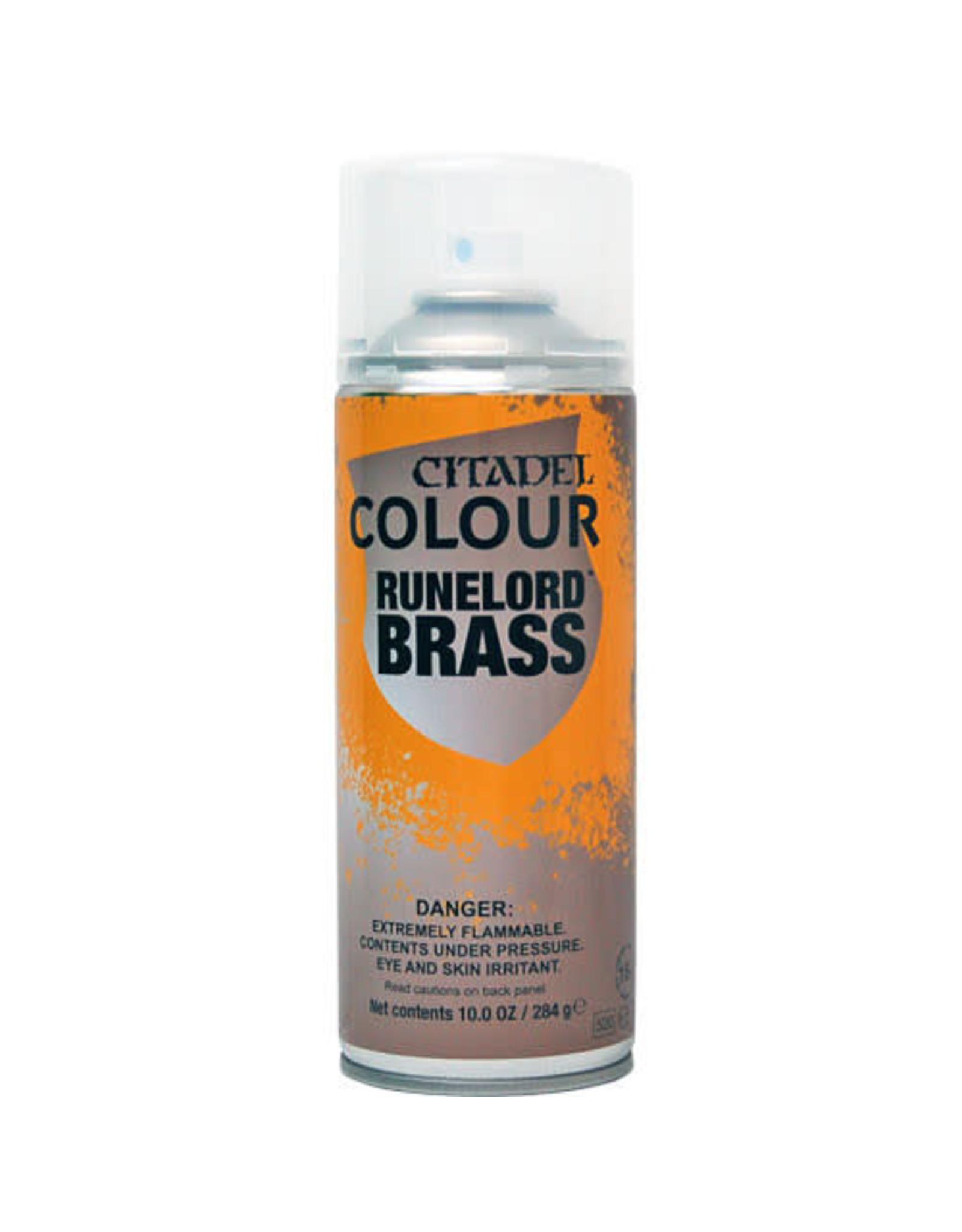 Games Workshop Citadel Paint: Runelord Brass Spray Paint 10oz