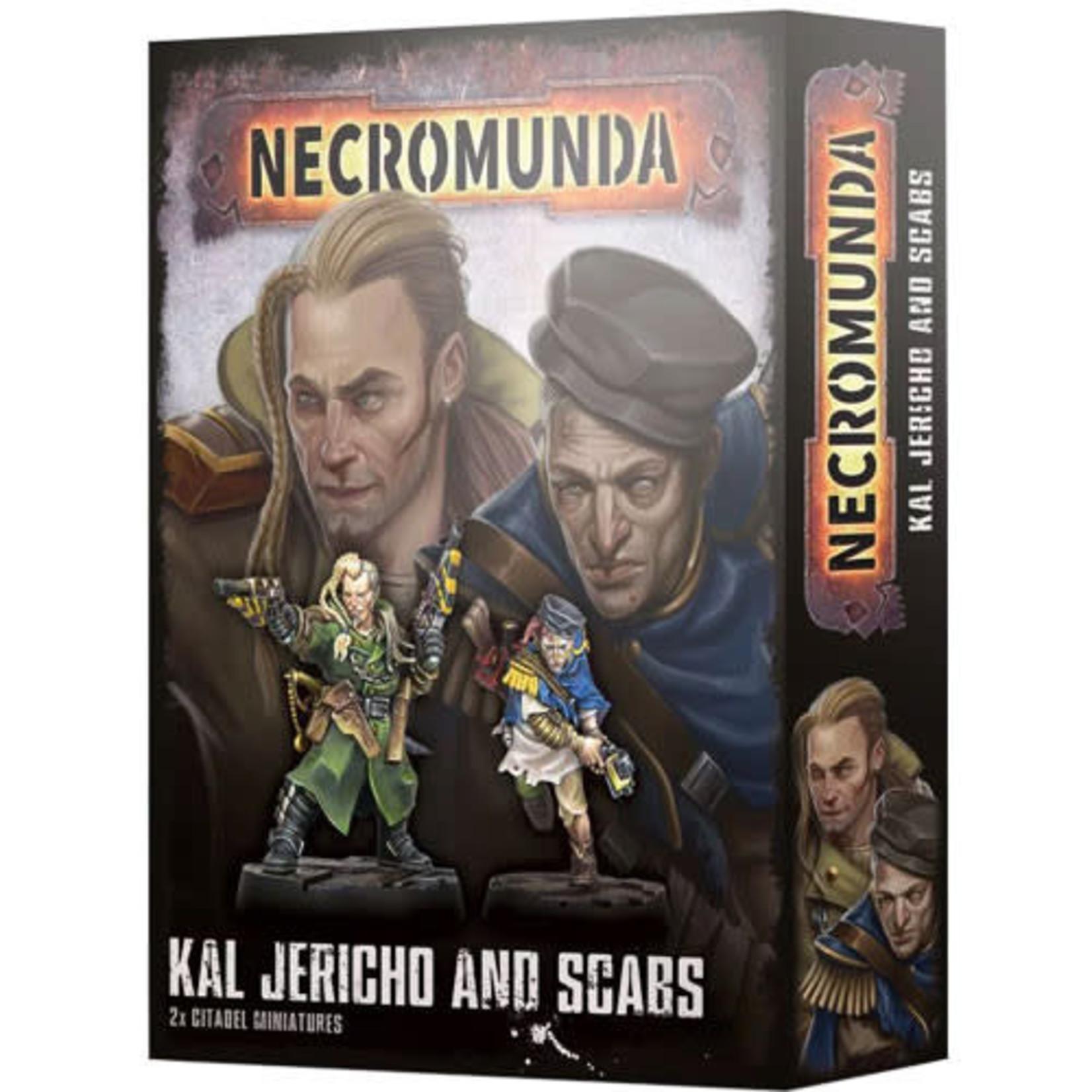 Necromunda Kal Jericho and Scabs