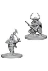 D&D Unpainted Minis: Dwarf Female Barbarian