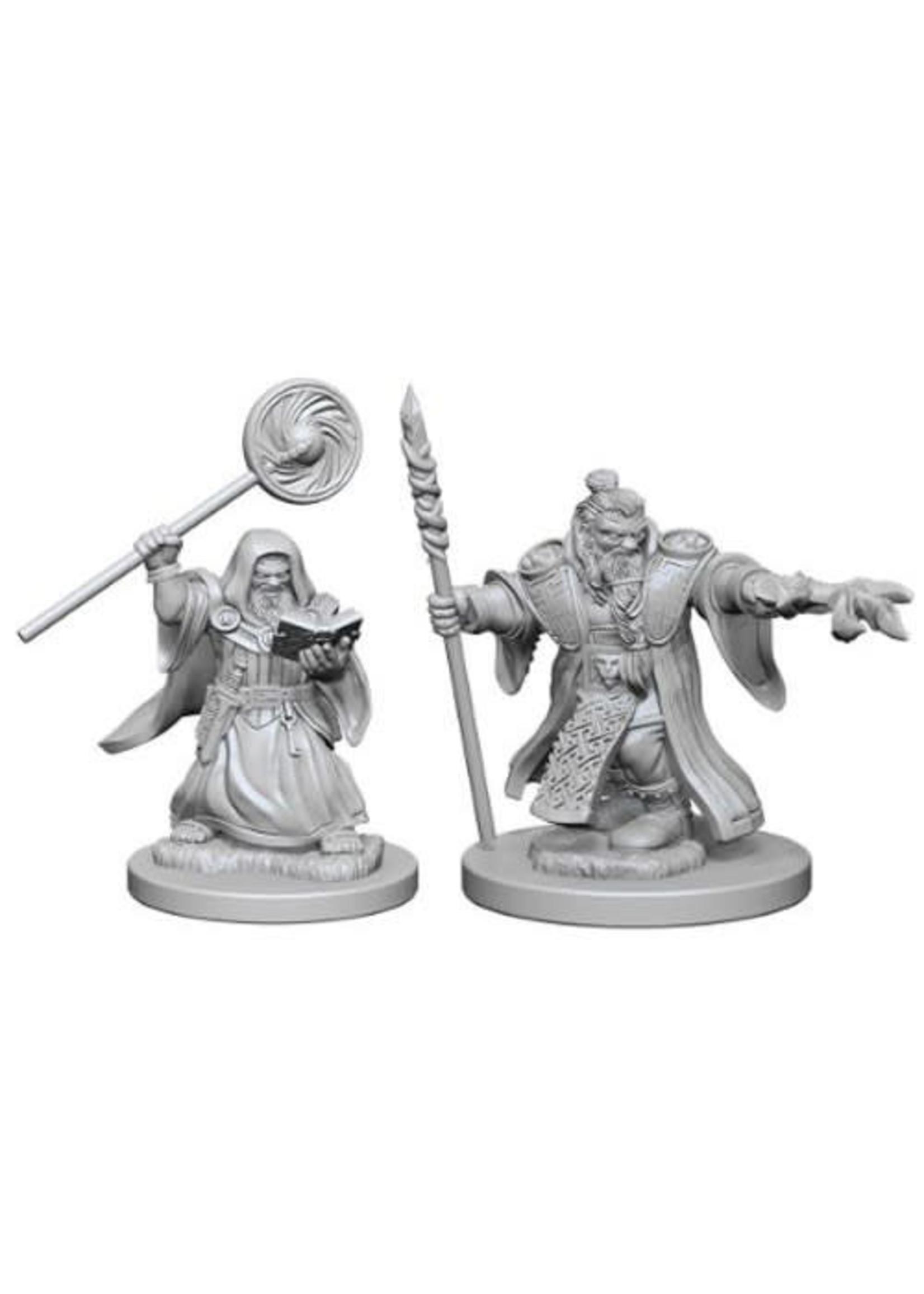 D&D Unpainted Minis: Dwarf Male Wizard