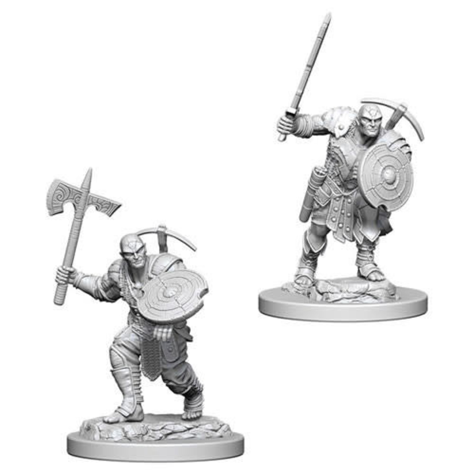 D&D Unpainted Minis: Earth Genasi Male Fighter