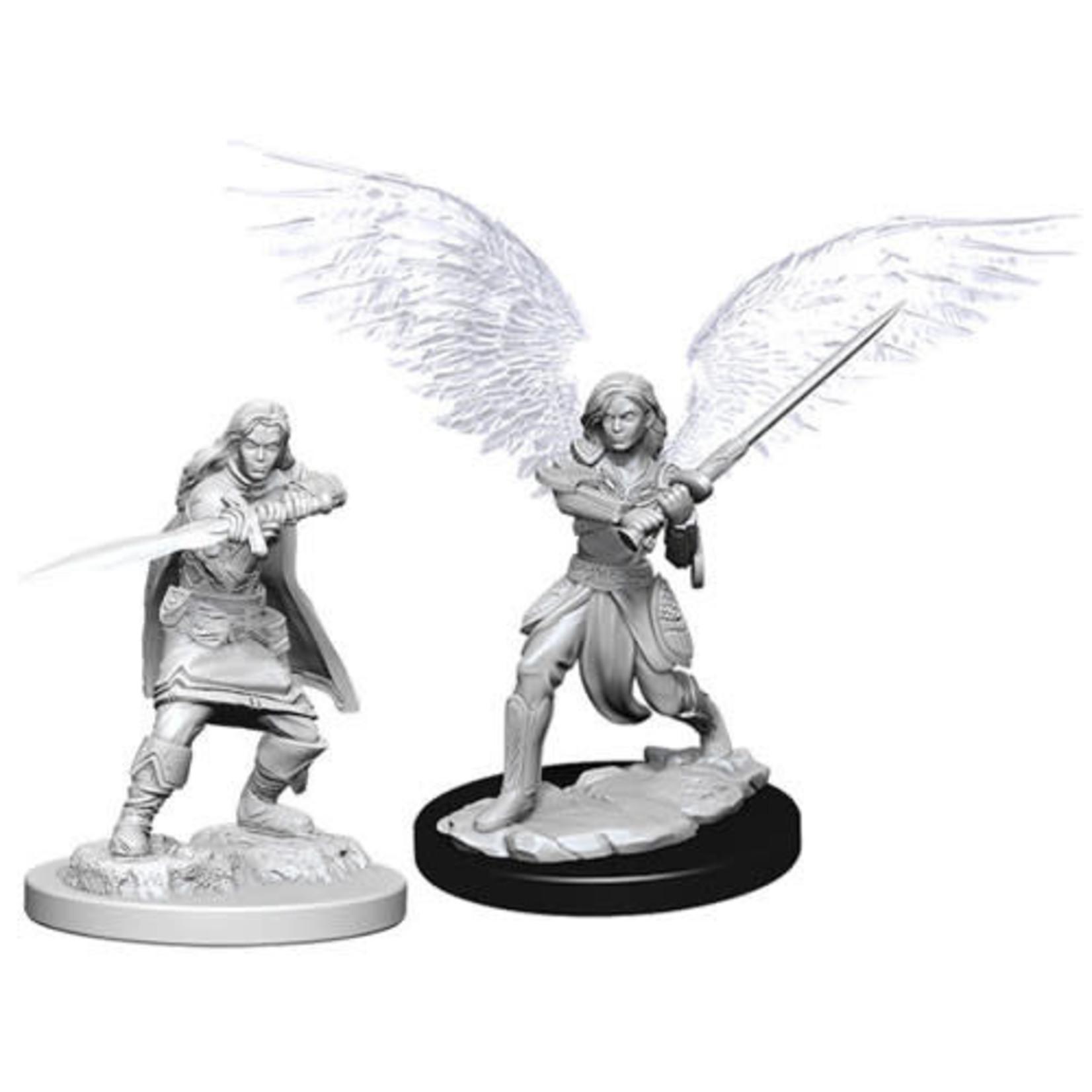 D&D Unpainted Minis: Female Aasimar Fighter