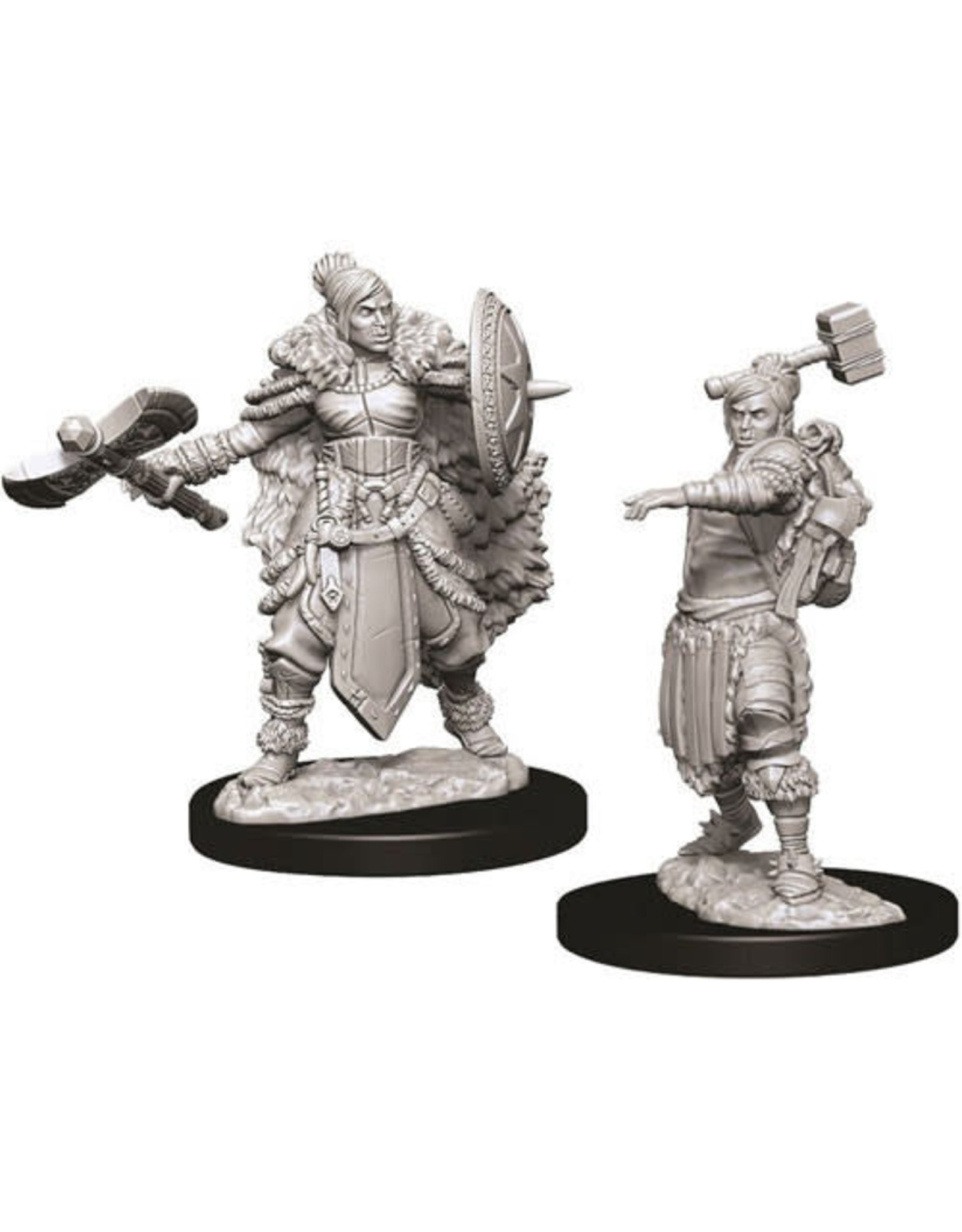 D&D Unpainted Minis: Half-Orc Female Barbarian (Wave 9)