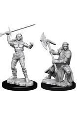 D&D Unpainted Minis: Half-Orc Female Fighter