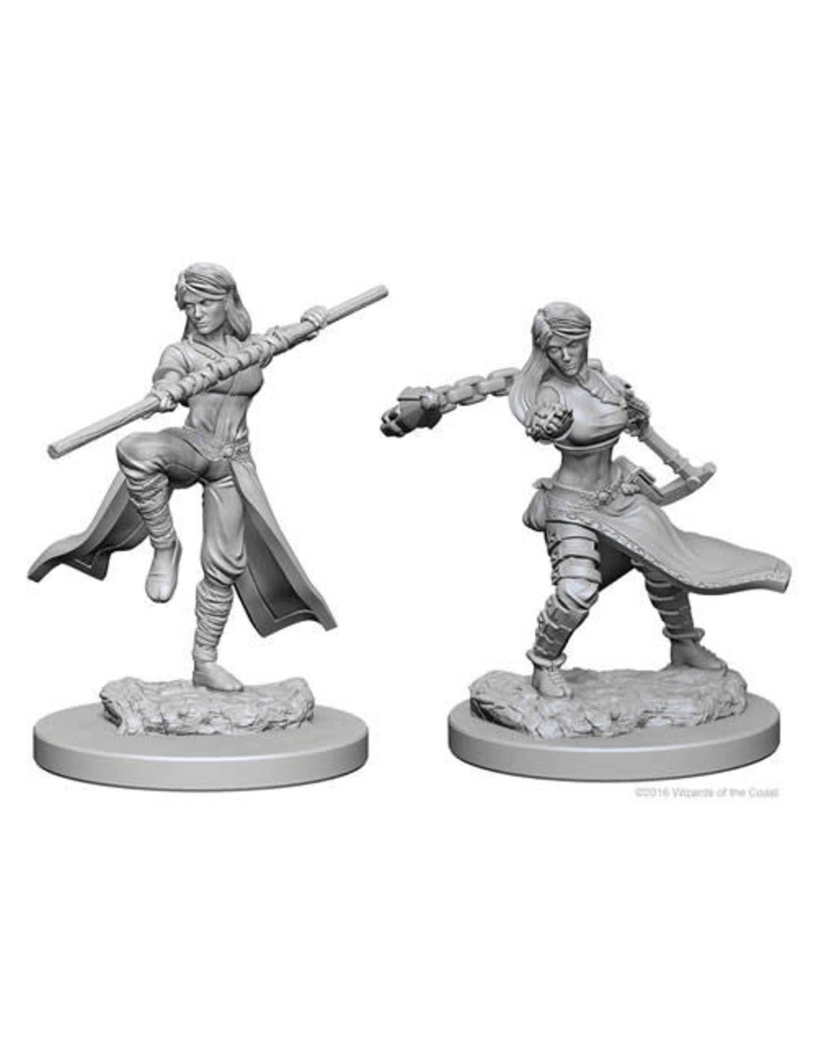 D&D Unpainted Minis: Human Female Monk (Wave 1)