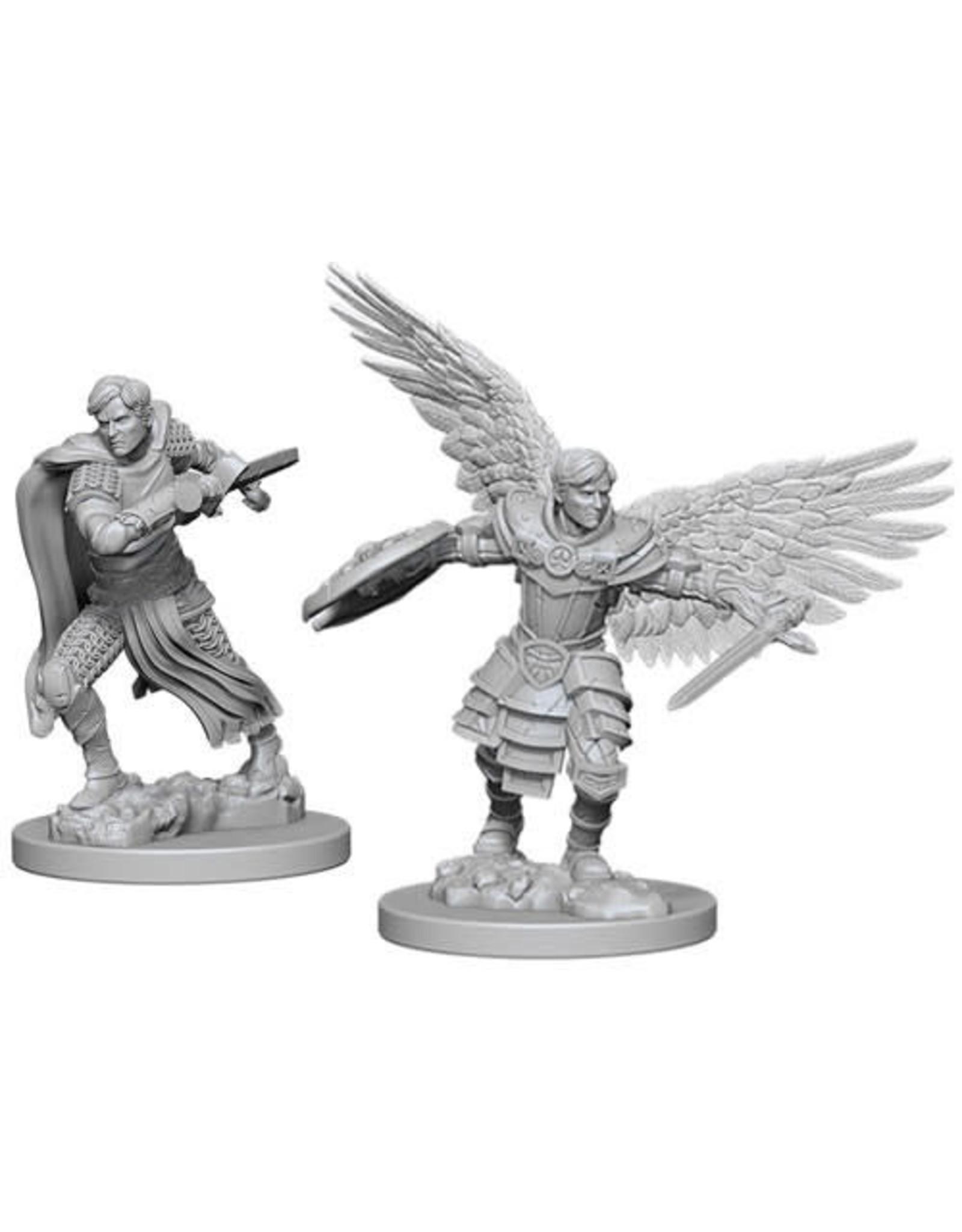 D&D Unpainted Minis: Male Aasimar Fighter