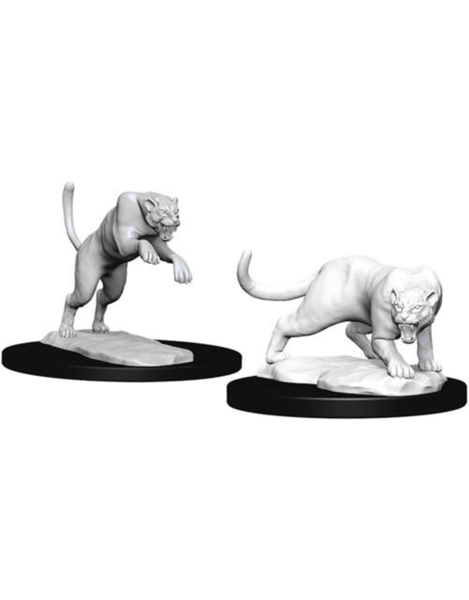D&D Unpainted Minis: Panther & Leopard