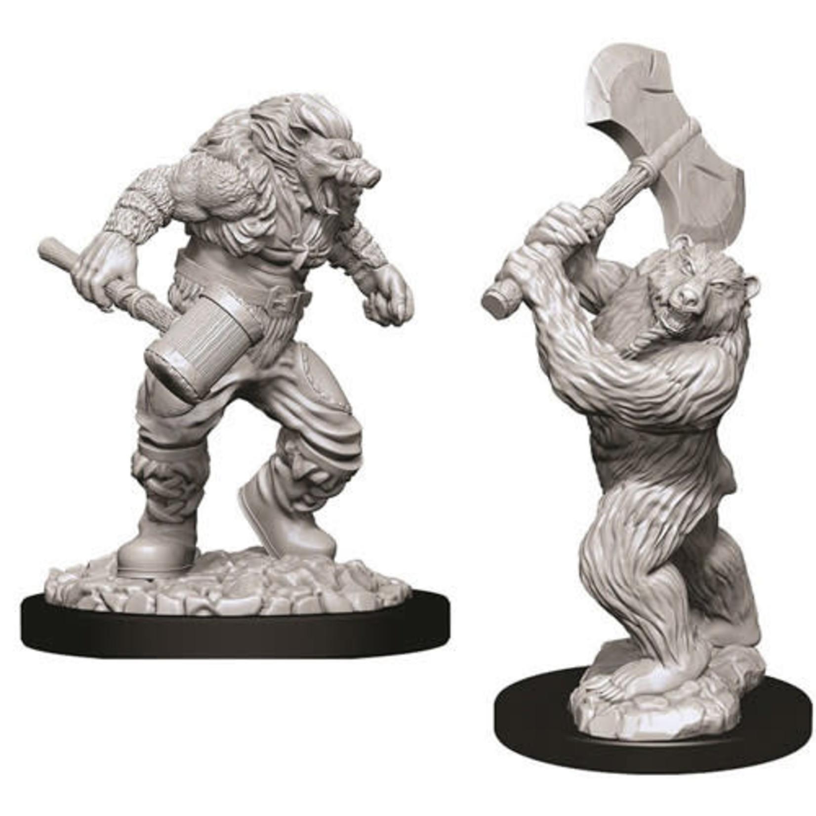 D&D Unpainted Minis: Wereboar & Werebear (Wave 9)