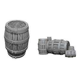 D&D Unpainted Minis: Barrel & Pile of Barrels