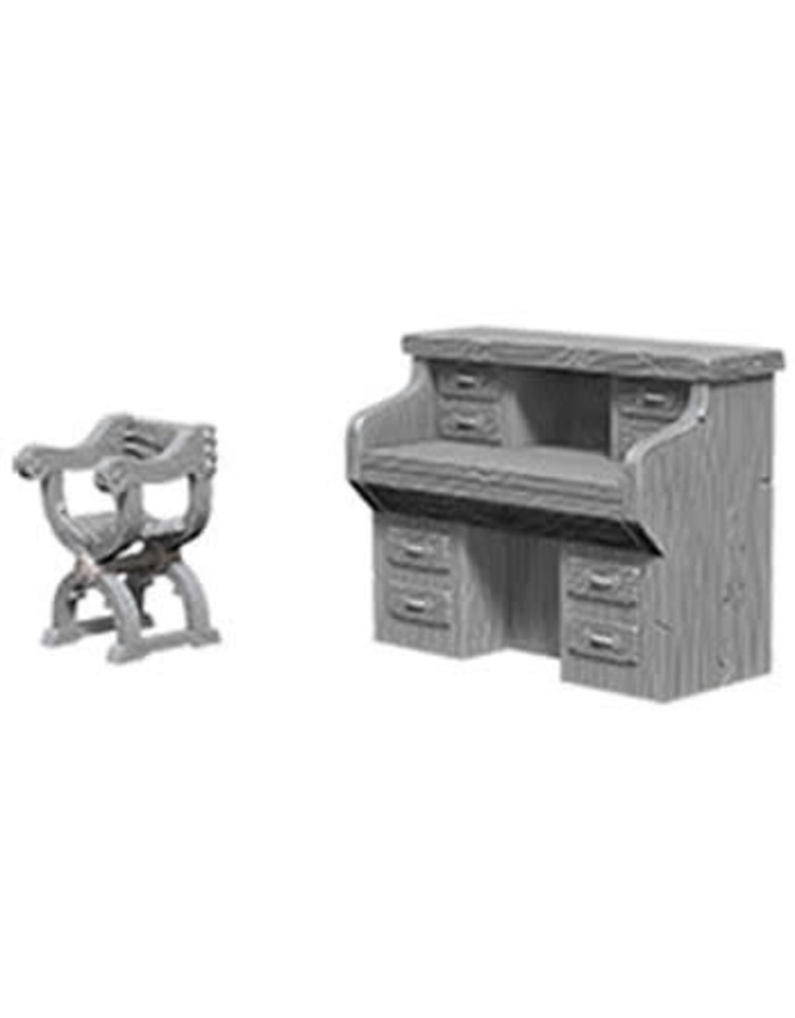 D&D Unpainted Minis: Desk & Chair