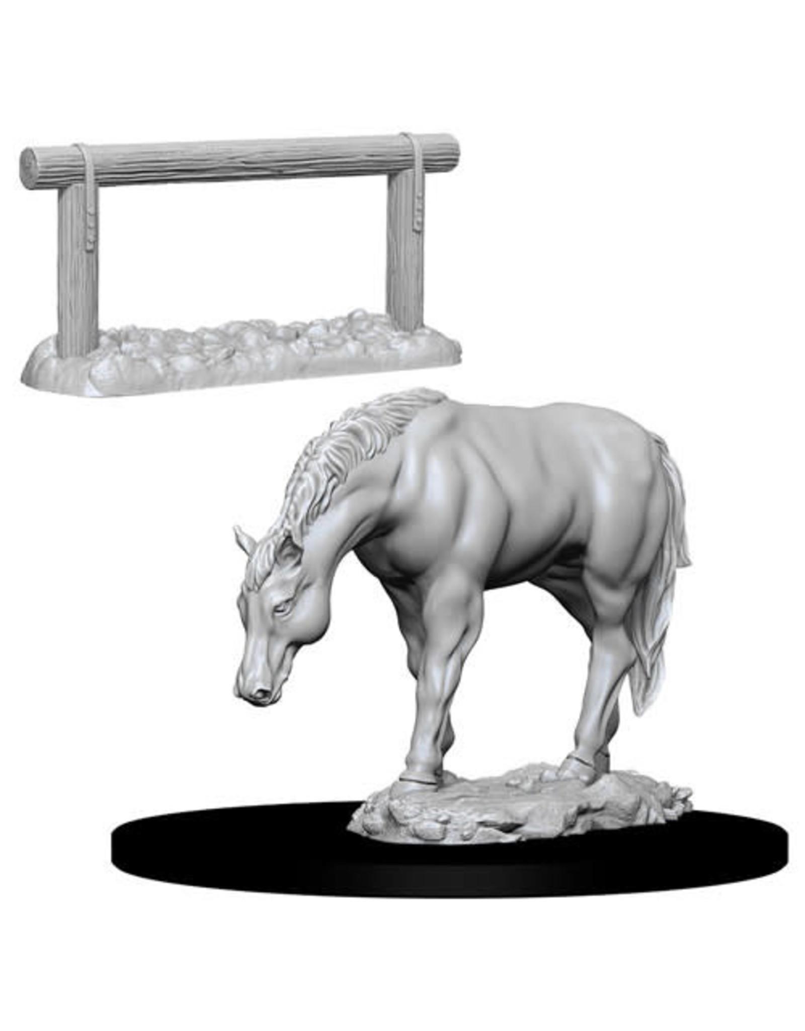 D&D Unpainted Minis: Horse & Hitch (Wave 10)
