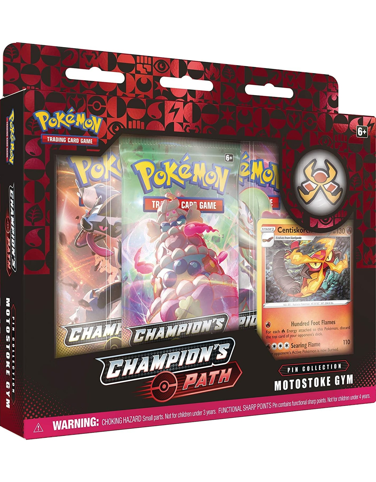 Pokemon Champion's Path Pin Collection Motostoke