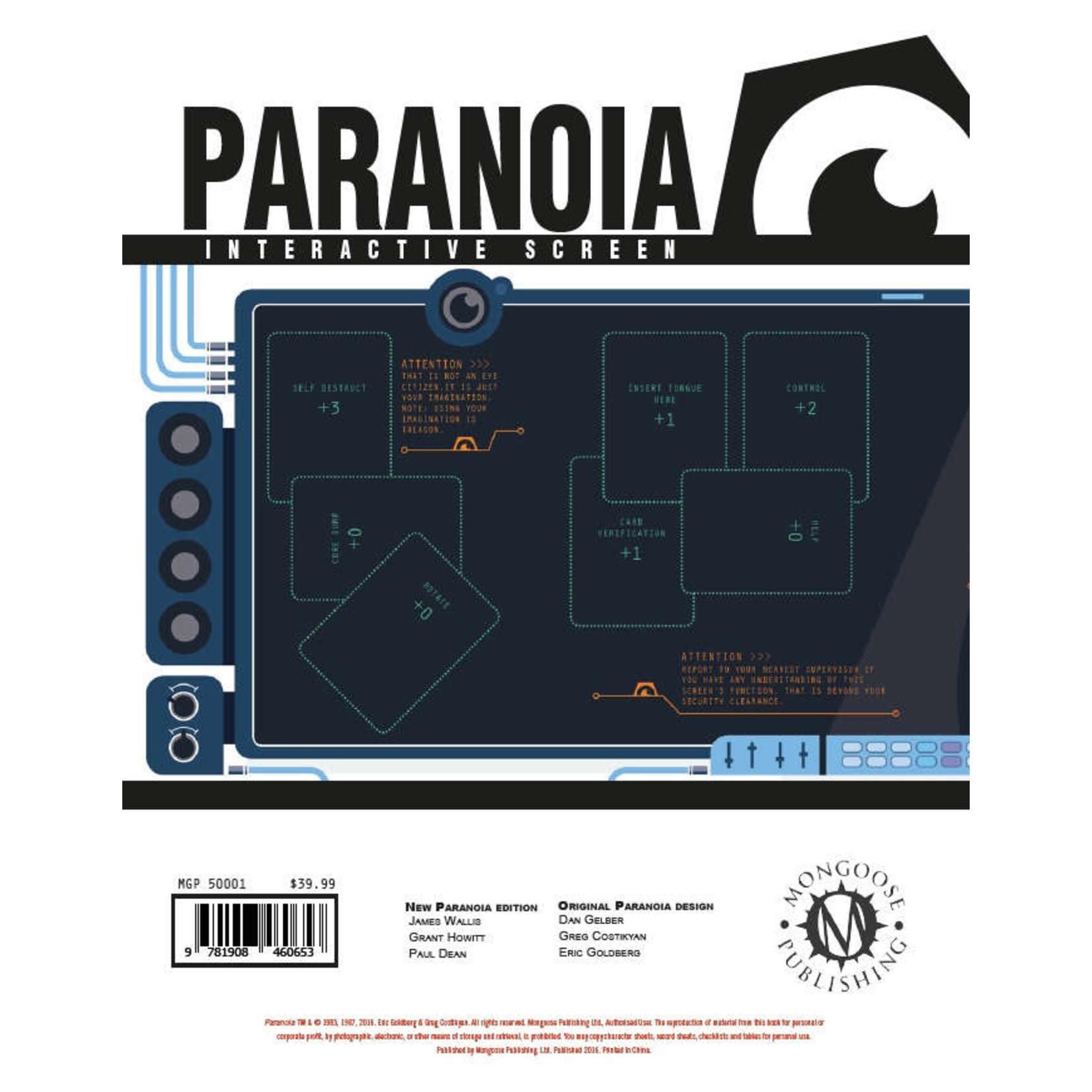 Paranoia RPG: Interactive Screen