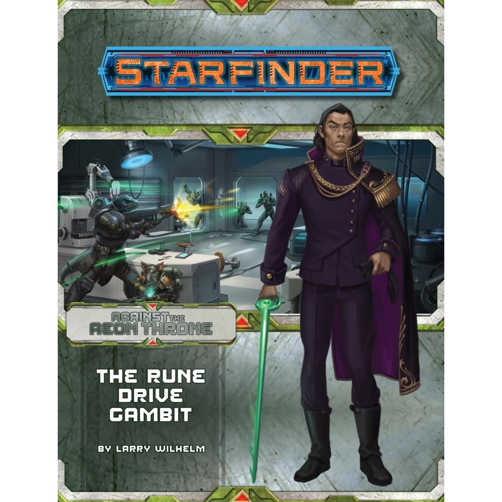Starfinder RPG Adventure Path #9 Against the Aeon Throne: The Rune Drive Gambit