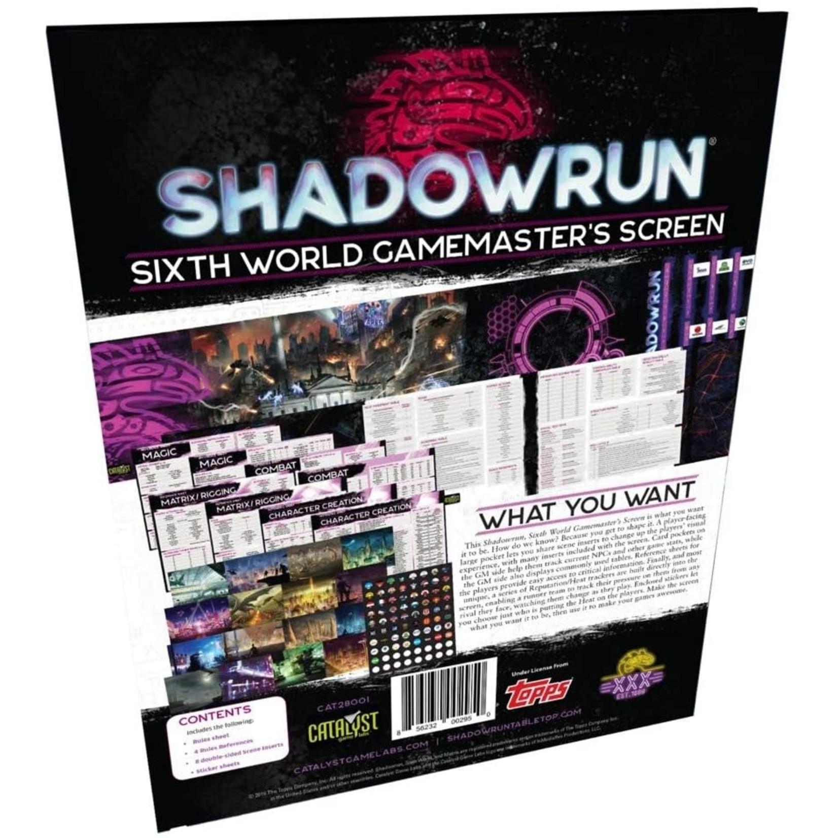 Shadowrun RPG 6th Edition Gamemasters Screen
