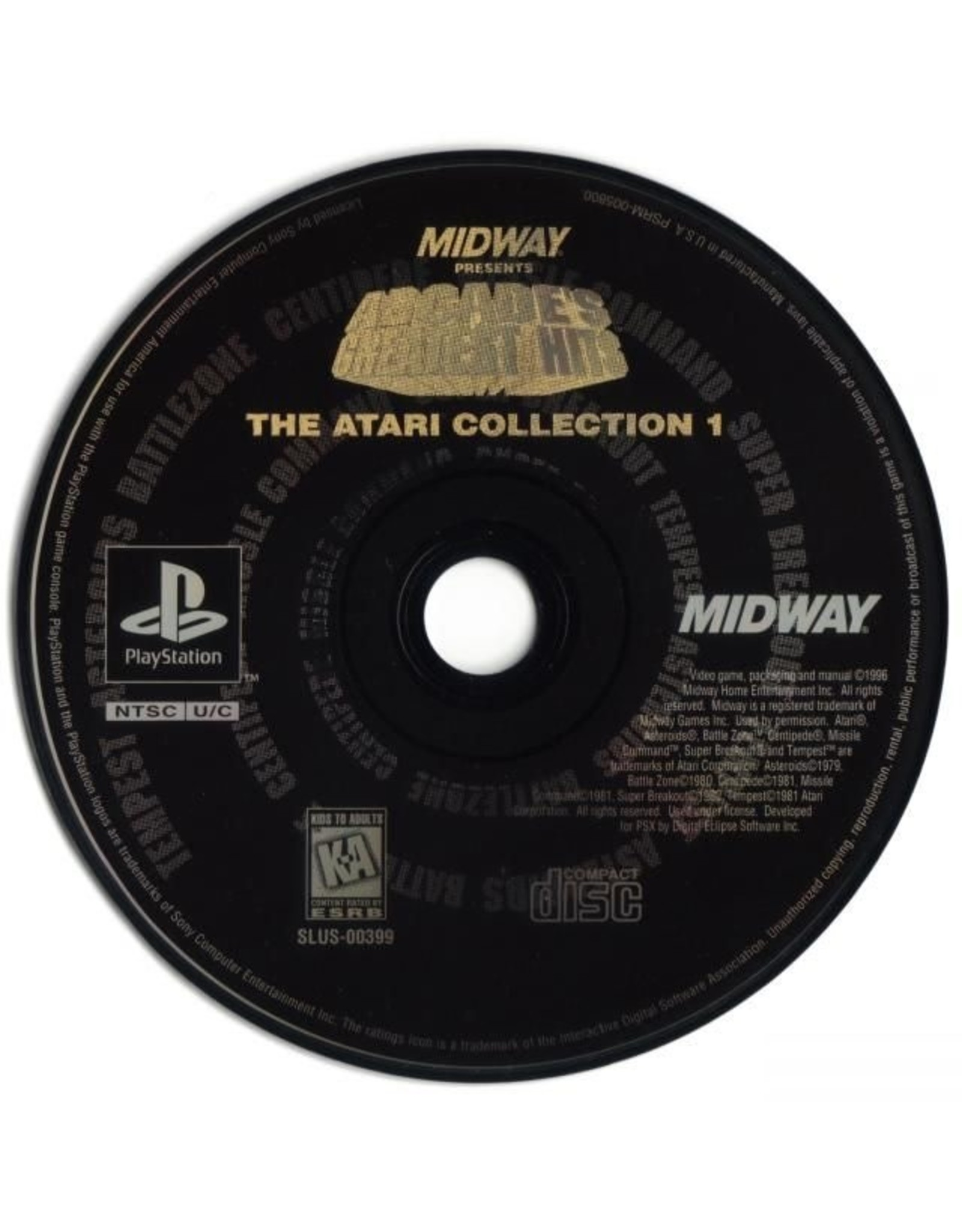 Arcade's Greatest Hits Atari Collection 1 (PSX)