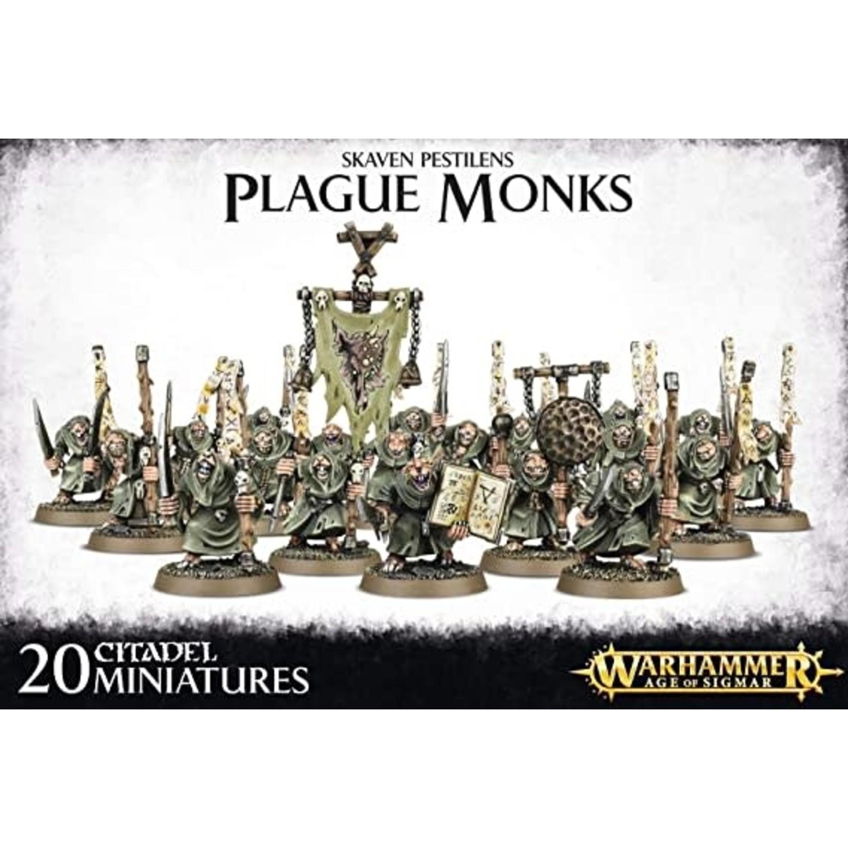 Skaven Pestilens Plague Monks (40K)