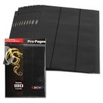 BCW 18 Pocket Pro Pages Side Loading Black