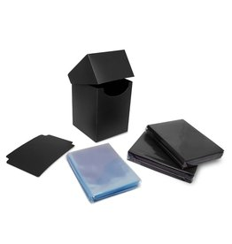 BCW Combo Pack Inner Sleeves and Elite2 Deck Box - Black