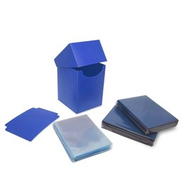 BCW Combo Pack Inner Sleeves and Elite2 Deck Box - Blue