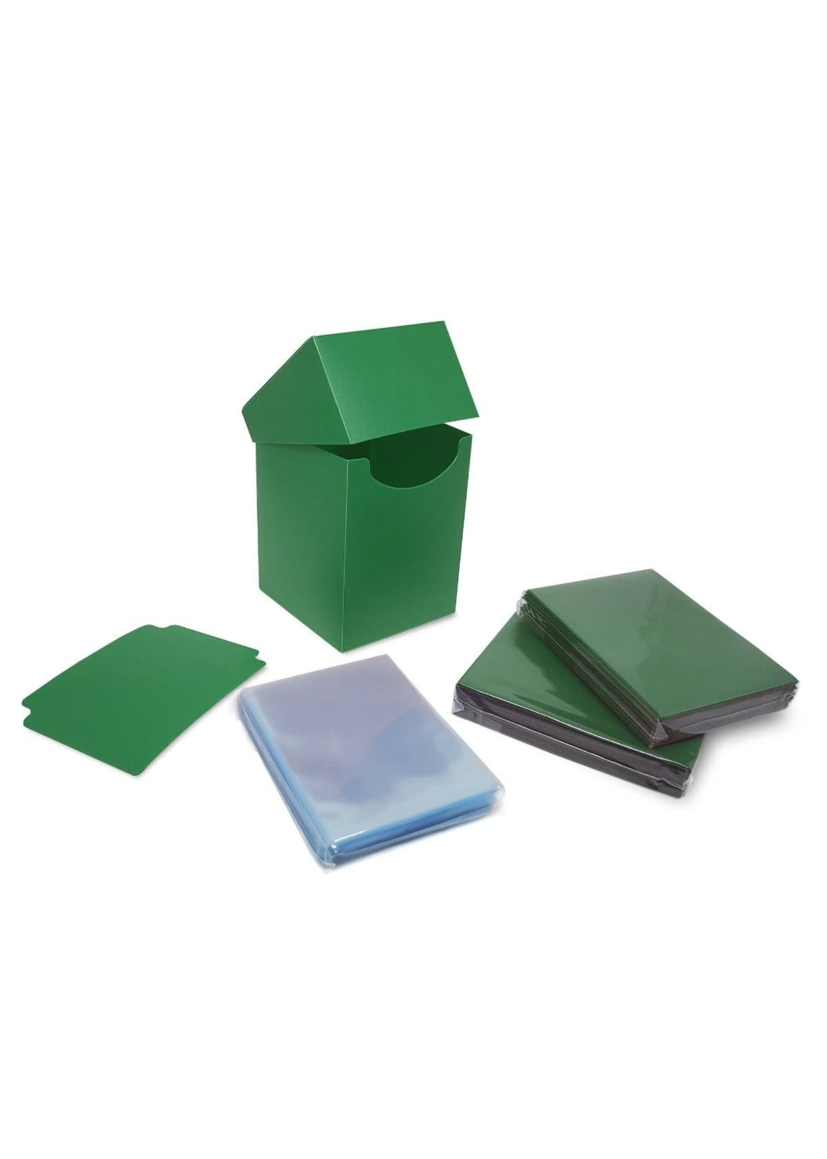BCW Combo Pack Inner Sleeves and Elite2 Deck Box - Green