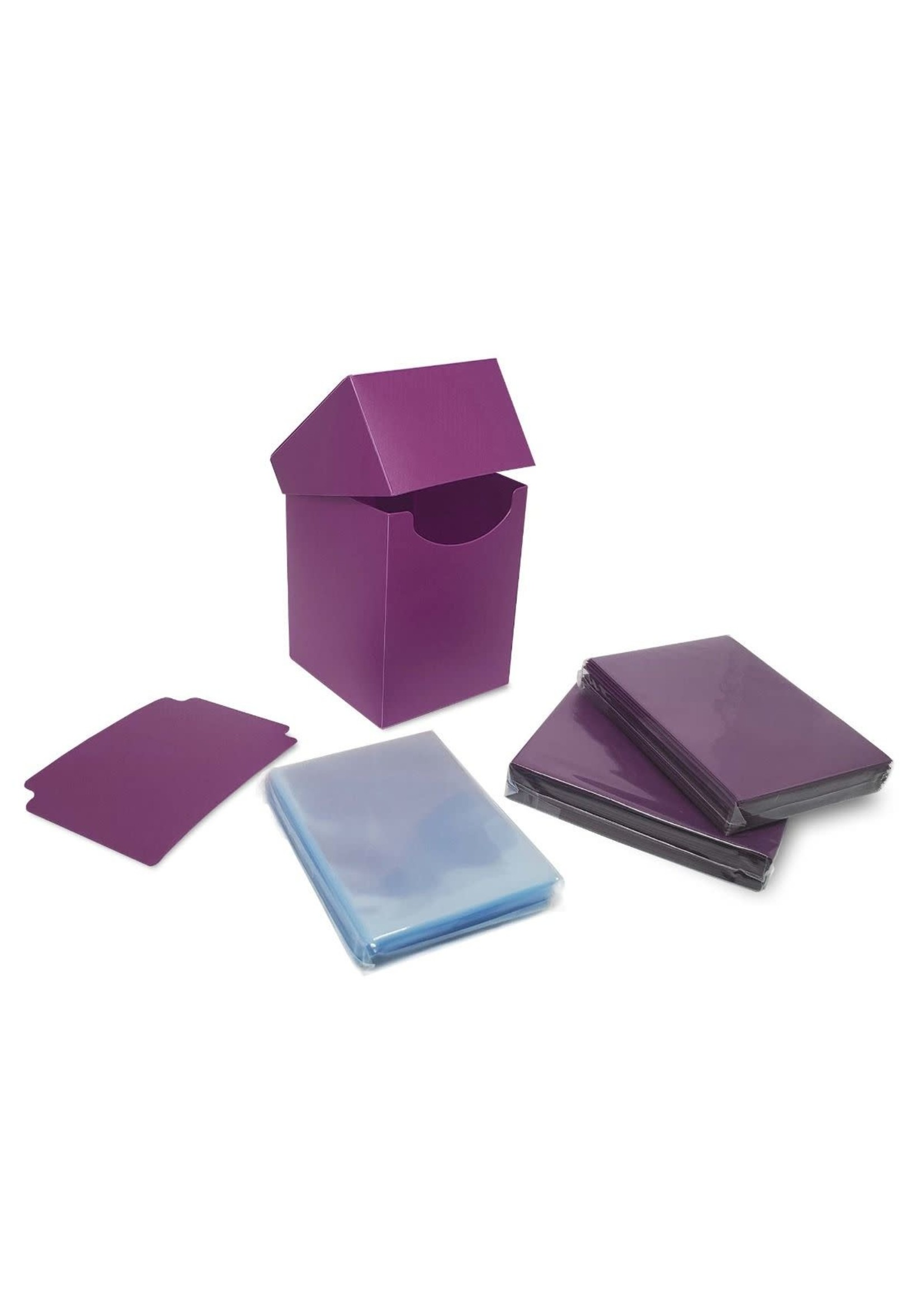 BCW Combo Pack Inner Sleeves and Elite2 Deck Box - Mulberry