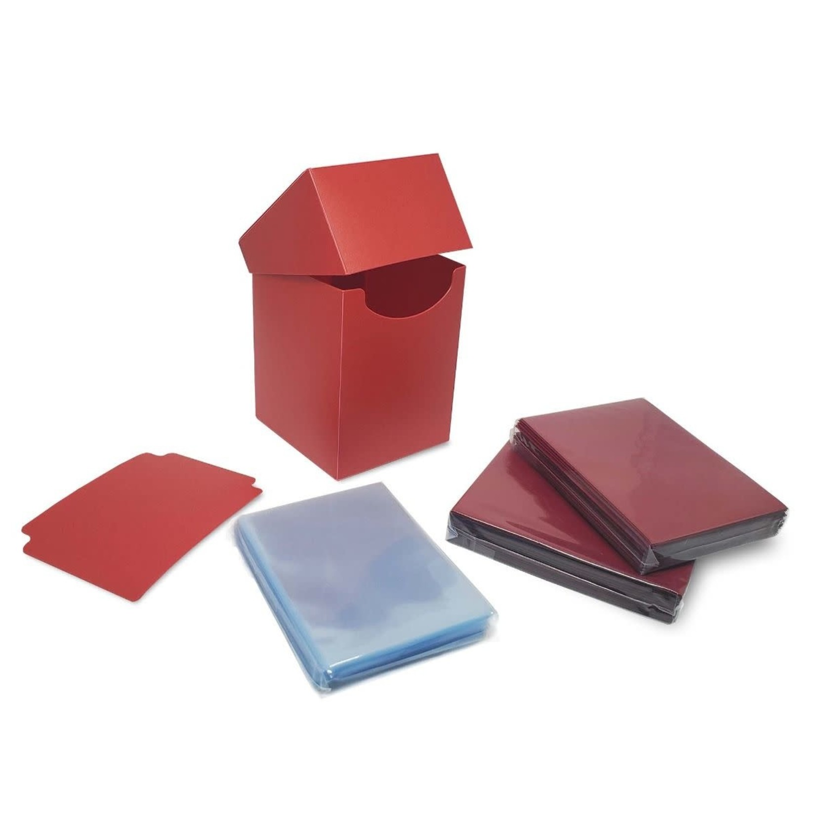 BCW Combo Pack Inner Sleeves and Elite2 Deck Box - Red