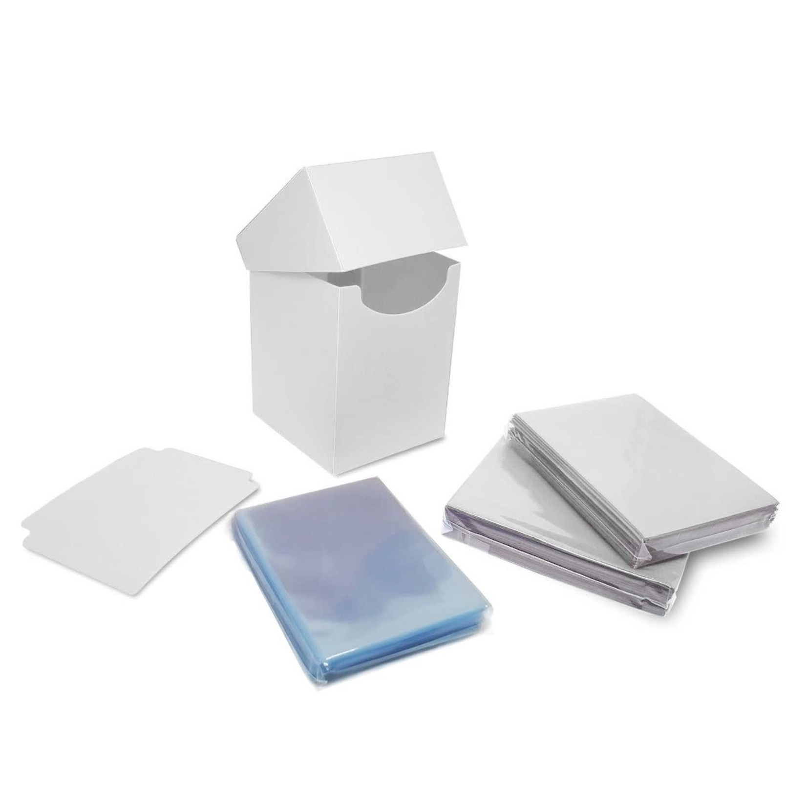 BCW Combo Pack Inner Sleeves and Elite2 Deck Box - White