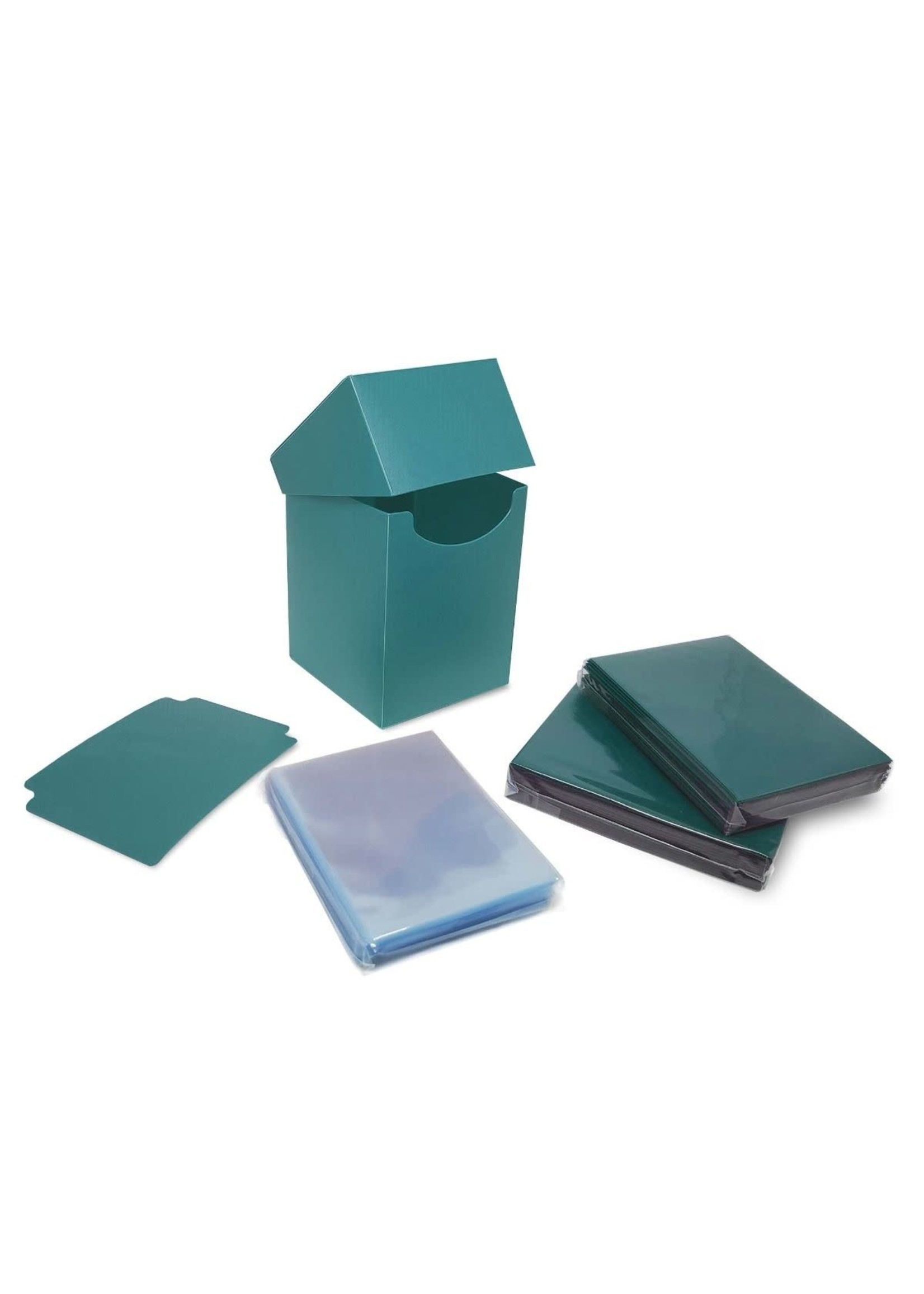 BCW Combo Pack Inner Sleeves and Elite2 Deck Box - Teal
