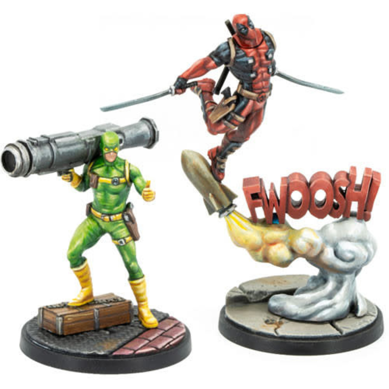 Asmodee Marvel Crisis Protocol - Deadpool and Bob Character Pack
