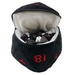 UP Dice Bag Plush D&D d20 Black With Red