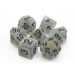 Old School 7 Piece Dice Set: Frosted Firefly - Springtime Dew