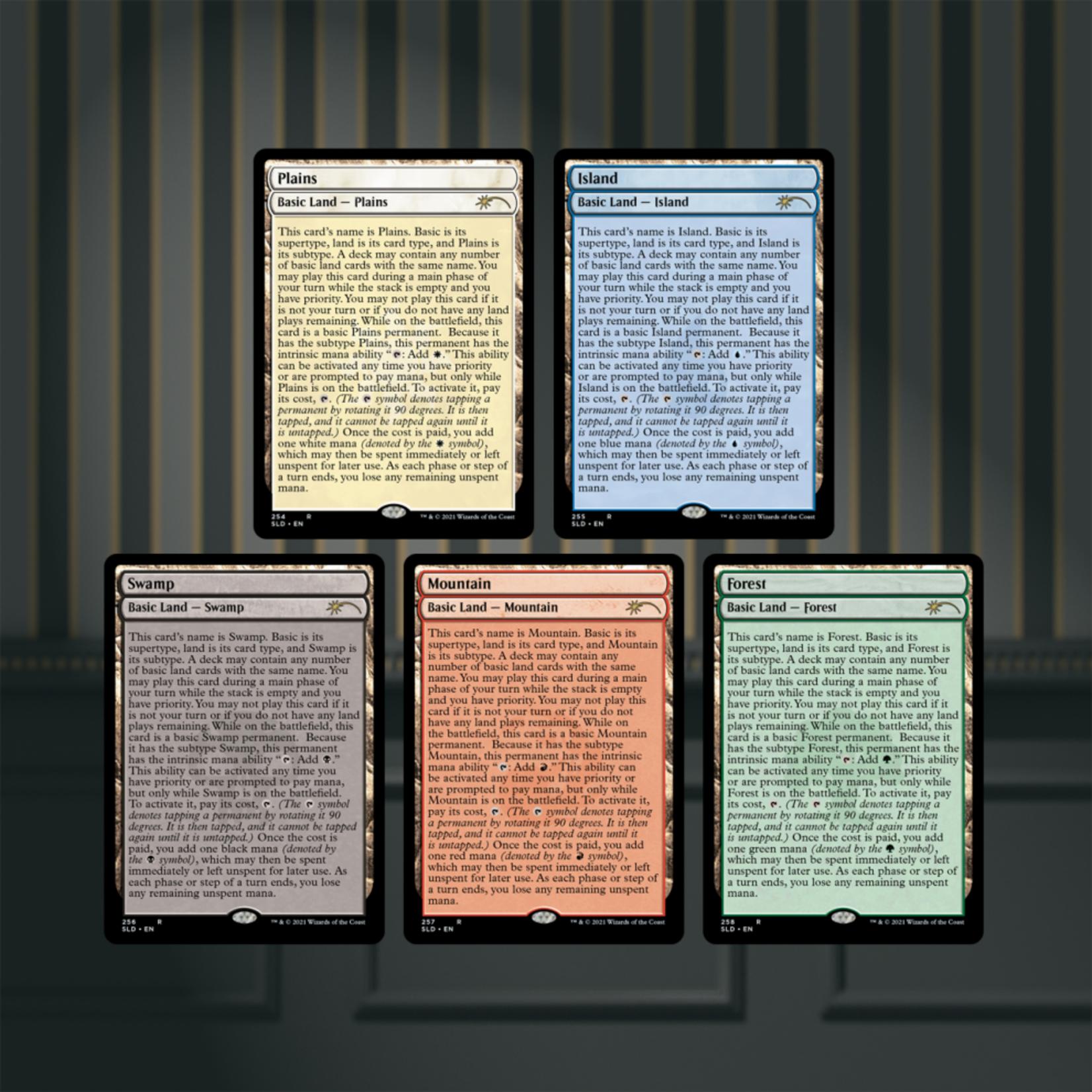 Wizards of the Coast Secret Lair Drop: The Full-Text Lands [Foil]