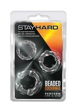 STAYHARD BEADED COCKRINGS CLEAR