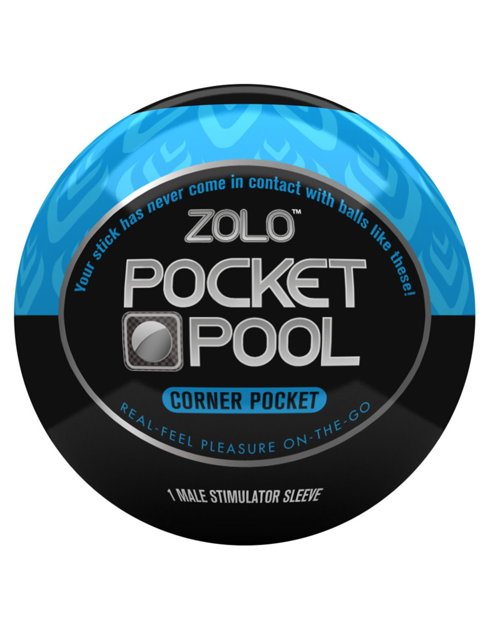 Zolo Pocket Pool Corner Pocket Travel Masturbator