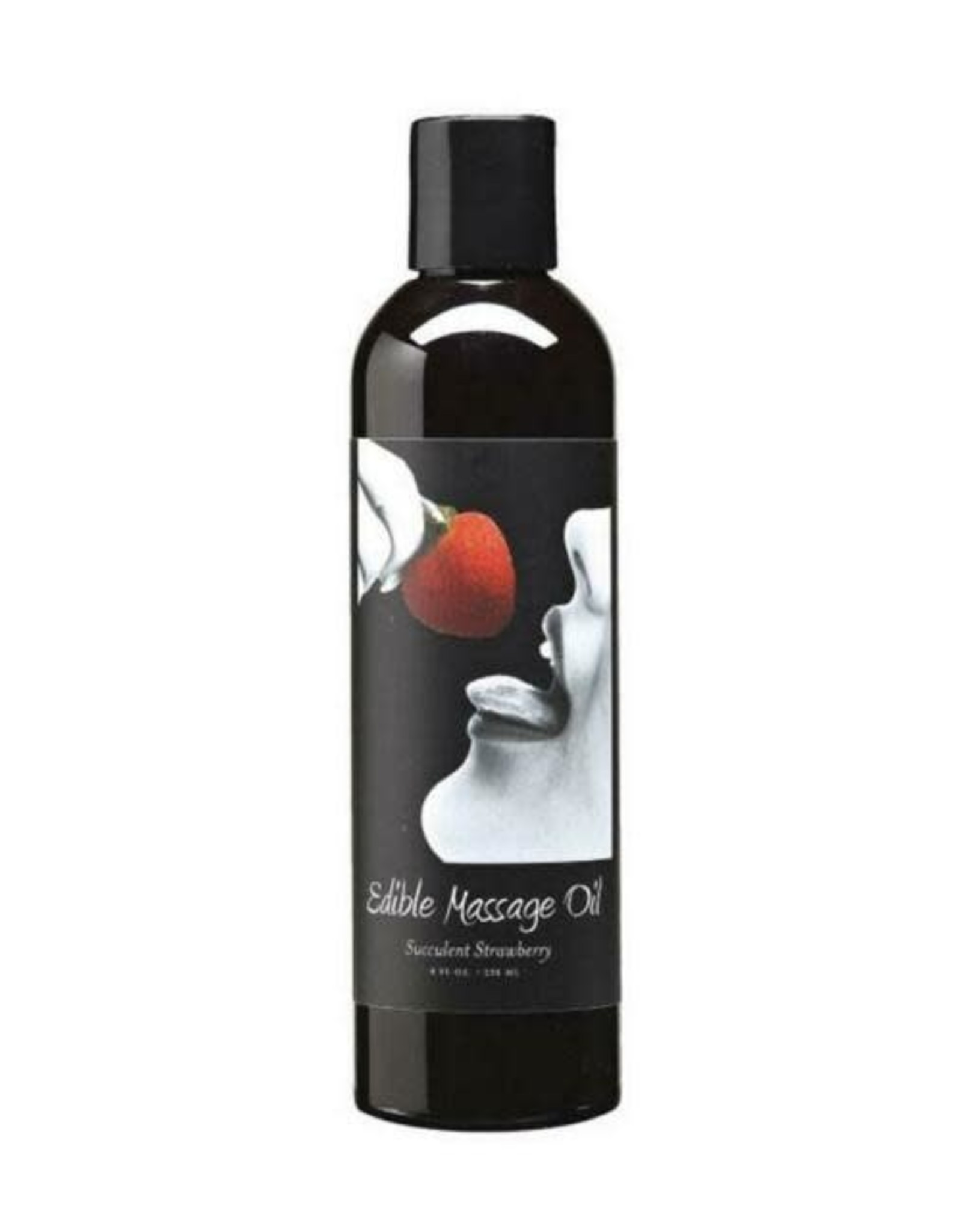 EARTHLY BODY Edible Massage Oil 8oz  Strawberry