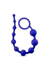 LUXE SILICONE 10 BEADS BLUE