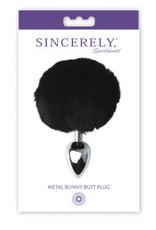 METAL BUNNY BUTT PLUG BLACK