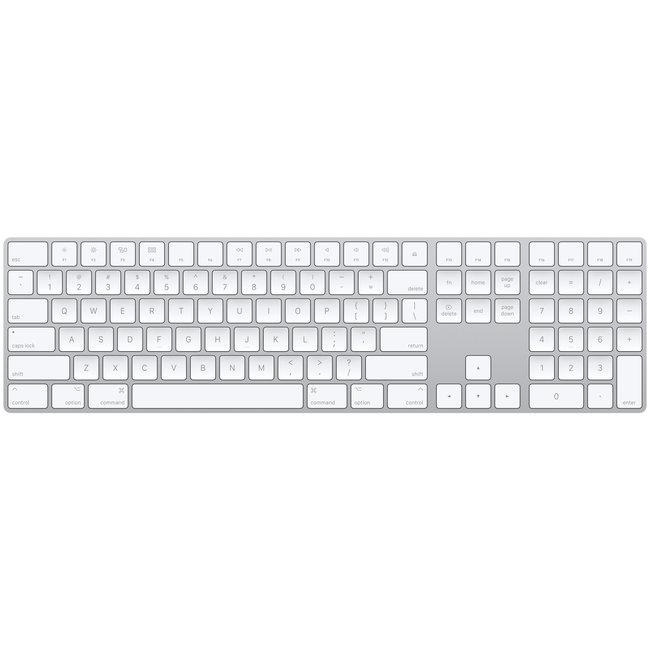 Apple Wireless Bluetooth Magic Keyboard with 10 Key Numeric Keypad - A1843 (MQ052LL/A) - Silver