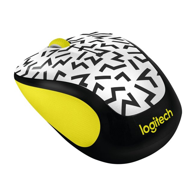 Logitech M325c 2.4GHz Wireless 3-Button Optical Mouse w/ USB Receiver - Yellow ZigZag